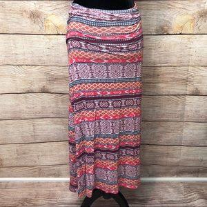 Maxi Tribal Skirt American Rag
